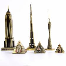 home decoration supplies metal crafts world architecture model