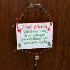santa key dear santa hanging traditional plaque with santa key santa key