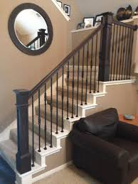 Install Banister At The Ballesteros Residence We Removed The Old Newel Posts And