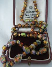 bead necklace ebay images 32 best vintage opalescent foil jewellery images jpg