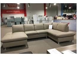 couch u form sofa couch echtleder wohnlandschaft cappuccino beige creme u form