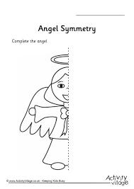 angel symmetry worksheet symmetry pinterest symmetry