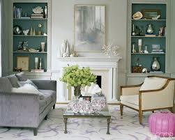 vintage livingroom formal living room accent color on the inside of the book shelves