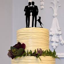 cake topper with dog wedding cake topper dog pet marriage same