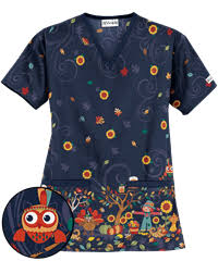 print scrub tops and print scrub jackets at advantage