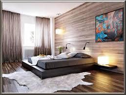 wandverkleidung modern schlafzimmer laminat in grau und holz