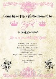 baby shower tea party invitation mickey mouse invitations templates