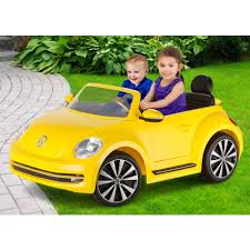 light pink volkswagen beetle kid trax vw beetle convertible 12 volt battery powered ride on