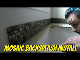 How Do You Install Glass Tile Backsplash by How To Install Mosaic Glass Tile Backsplash In Less Than 15