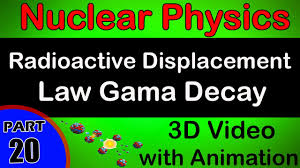 radioactive displacement law gama decay nuclear physics class