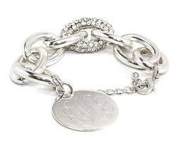 monogram bracelet silver barbara monogram bracelet monogrammed bracelet silver