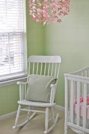 Nursery Room Rocking Chair Beautiful Design Ideas Using Rectangular White Wooden Rocking