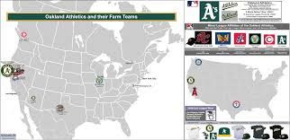 Mlb Fan Map Mlb Ball Clubs And Their Minor League Affiliates The Oakland