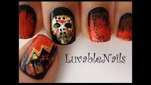 horror nail art friday the 13th part ii nail art by