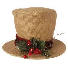 raz burlap top hat decoration hessian crafts and