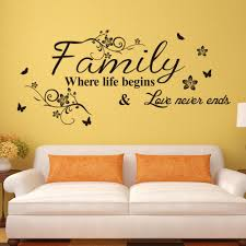 decorating art deco style picture more detailed about inspiring quotes wall stickers family where love begins never end inspirational english letter
