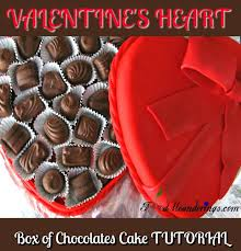 heart box of chocolates s heart box of chocolate cake tutorial food meanderings