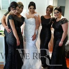 black bridesmaid dresses black sequin bridesmaid dresses white runway