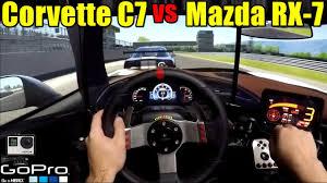 Track Day Corvette C7 Stingray Vs Mazda Rx 7 Tuned Pov