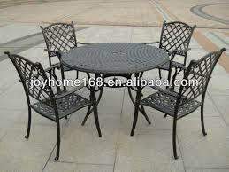 Cast Iron Bistro Table And Chairs Wrought Iron Patio Table And 4 Chairs