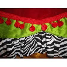 tree skirt lime green zebra