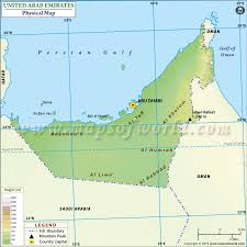 map of the uae physical map of united arab emirates uae physical map