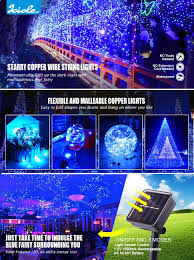 halloween icicle lights icicle starry solar string lights 26 ft 120 led waterproof fairy