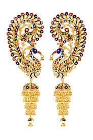 kaan earrings manini s mayur kaan the peacock earrings