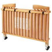 l a baby full size wood folding crib natural walmart com