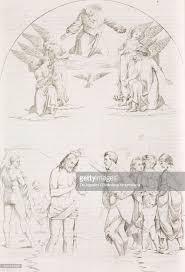 baptism engraving baptism of by luca signorelli cortona tuscany engraving