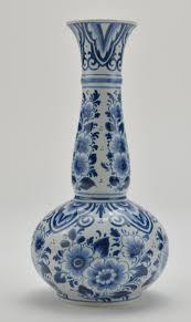 Blue And White Vase Delfts Holland Windmill Pattern Powder Jar Trinket Box 2