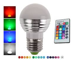 led 3w rgb globe bulb rgb bulb aluminum 85 265v wireless remote