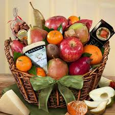 organic fruit basket california artisanal cheese and fruit basket aa4059 a gift inside