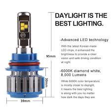 Led Head Light Bulbs by 2pcs Led Headlight Light Bulbs High Beam U0026 Low Beam 6000k 9004