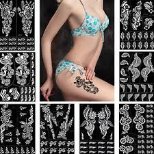diy henna tattoo stencil glitter paste drawing jewelry flower body