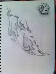 Card Tattoos Designs Flaming Ace Of Spades Tattoo Design By Shingdesigns On Deviantart