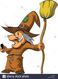 cartoon witch or a befana illustration stock vector art