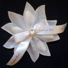 wedding almonds portofino ribbon flower with 5 almonds