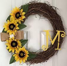 sunflower wreath yellow sunflower wreath sunflower grapevine wreath