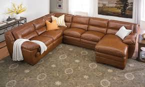 Brown Leather Sectional Sofa With Chaise Odyssey Leather Pillowtop Sectional With Chaise The Dump