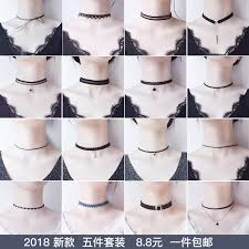 black neck from necklace images Usd 6 21 korean necklace female clavicle chain short choker jpg
