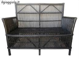 divanetto vimini divanetto a due posti in bamb禮 e vimini