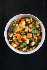 sweet potatoes thanksgiving roasted sweet potato u0026 black bean salad with fresh pineapple corn
