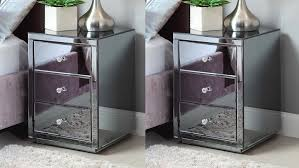 Tall Bedside Cabinets by Furniture Add Modern Style To Your Home With Mirrored Side Table