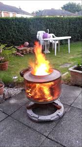 Making Fire Pit From Washer Tub - washing machine fire pit in wonderful home interior ideas p25 with