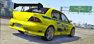 mitsubishi evolution 7 2f2f edition 2002 mitsubishi lancer evolution vii gta5 mods com
