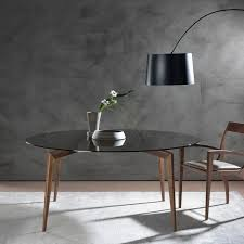 Contemporary Dining Tables by Contemporary Dining Table Walnut Ash Tempered Glass Hope