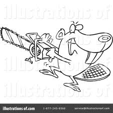 beaver clipart 1045370 illustration by toonaday