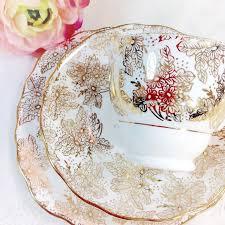 colclough bone china trio english tea set cup saucer plate tea
