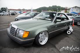 bagged mercedes e class 90s mercedes benz w124 coupe bagged on amg wheels automotive